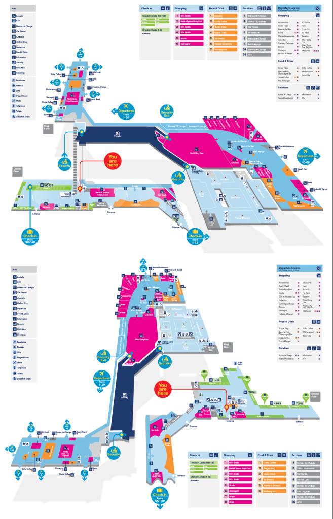 Схема аэропорта Бирмингема