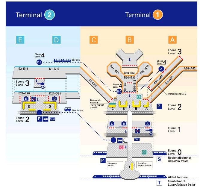 Схема аэропорта Франкфурт на Майне