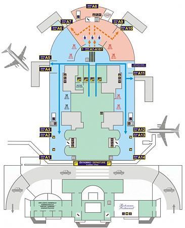 Схема международного аэропорта Вильнюса