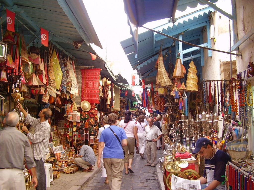 Рынок в Тунисе