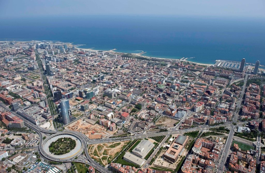 Барселона, вид с высоты