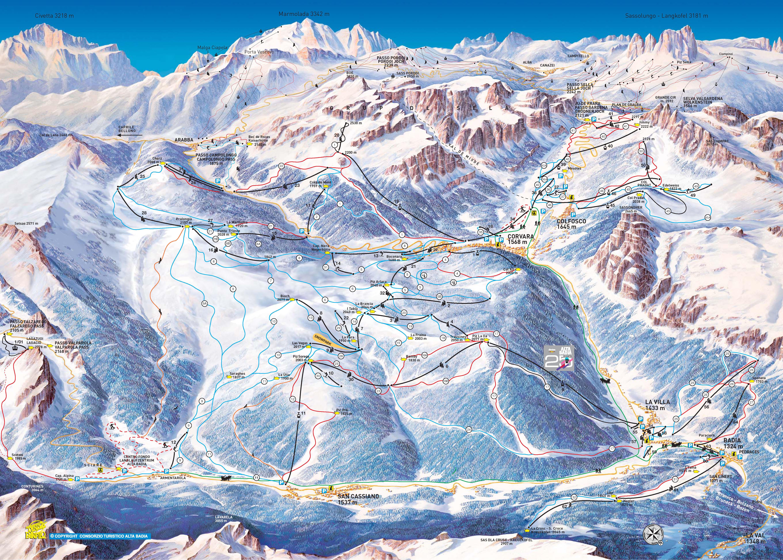 Карта трасс Аль Бадия