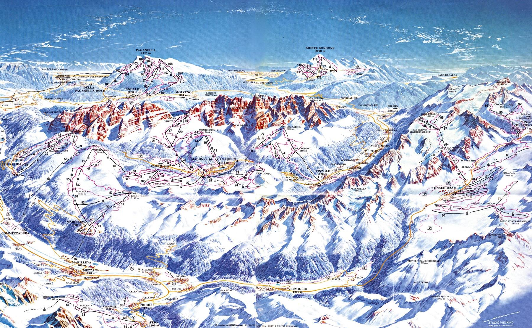 Карта трасс Кортина-д'Ампеццо