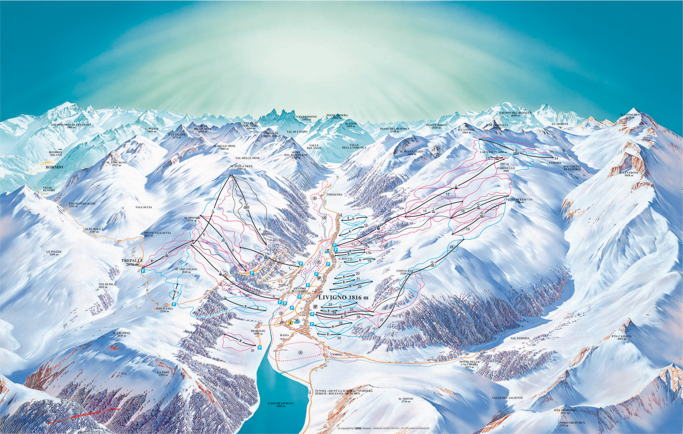 Карта трасс Ливиньо