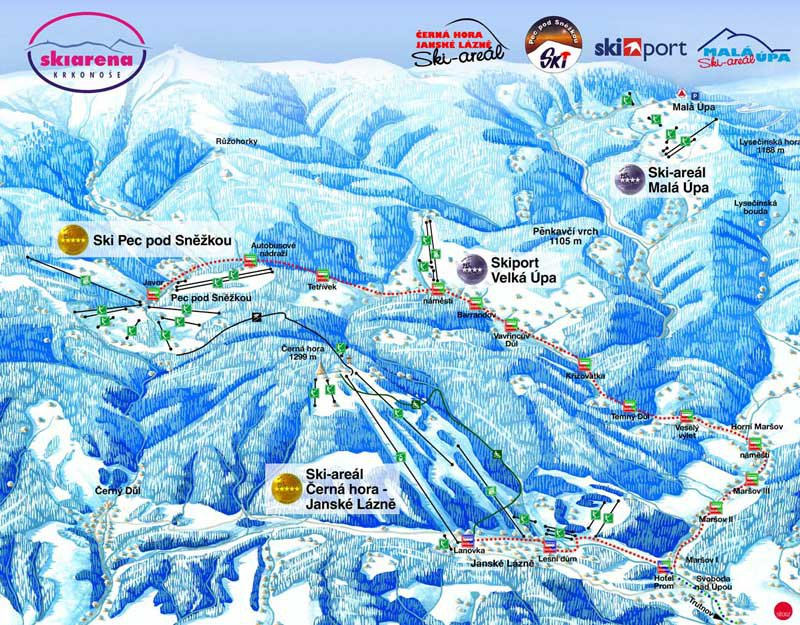 Карта трасс Пец под Снежкой