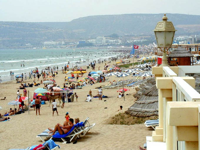 Агадир, городской пляж