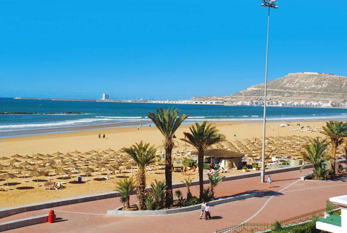 Золотой пляж Агадира