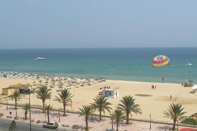 Пляж в Ясмин-Хаммамете