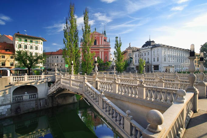 Тройной мост в Любляне
