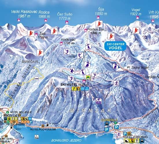 Карта трасс Бохинь