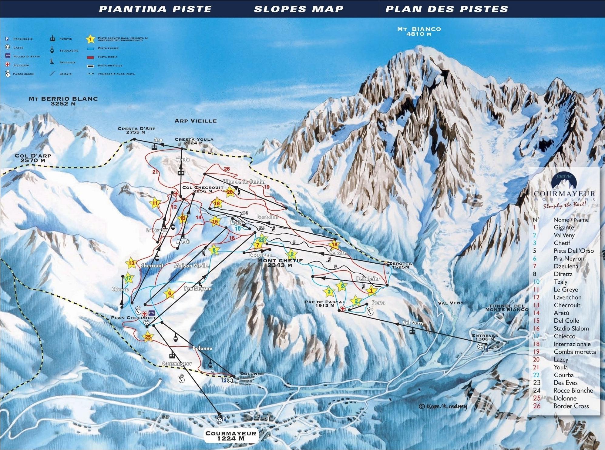 Карта трасс Курмайор