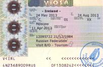 Виза в Ирландию
