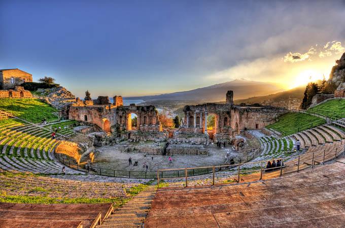 Античный театр, Таормина, Сицилия